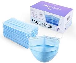 Zubrex <b>50 Pcs</b> Disposable 3 Ply Safety Face Mask for Protection ...