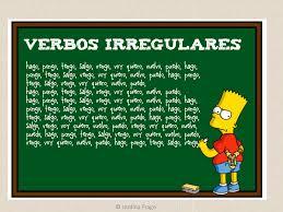 Resultado de imaxes para verbos irregulares