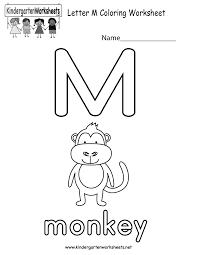 Free Kindergarten Alphabet Worksheets - Learning the basics.Letter L · Letter M Coloring Worksheet