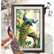 <b>5d diy diamond</b> painting embroidery anmial peacock cross stitch ...
