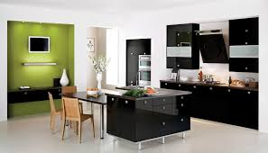 interesting modern dark tempered glass kitchen table ideas as deluxe contemporary apartment interior decoration inspiration with black white modern kitchen tables