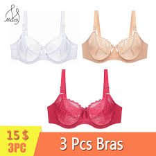 <b>Maidy 3Pcs</b>/<b>Pack Women</b> Lace <b>Bra</b> Unlined No Padded Bras Sexy ...