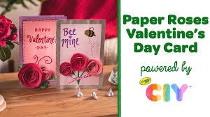 Paper <b>Rose</b> Card Making, DIY Valentine's Day Card || <b>Crayola</b> CIY ...