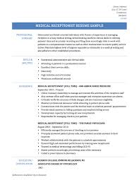 car dealership receptionist resume examples resume templates medical receptionist resume samples templates and tips online medical assistant receptionist resume samples medical receptionist resume
