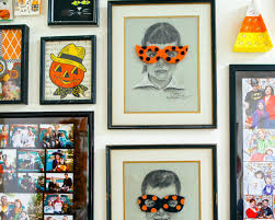 halloween gallery wall decor hallowen walljpg how to make a felt mask to hang on a portrait for halloween add some whimsy to your walls