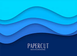 Free Vector | <b>Stylish blue</b> papercut background design