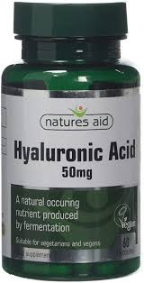 Natures Aid <b>50mg Hyaluronic Acid</b> - Pack of 60 Capsules: Amazon ...