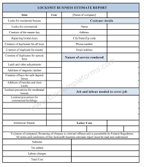 online the locksmith business estimate template in ms online the locksmith business estimate template in ms excel format which allows easy personalization and modification