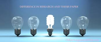 thesis paper difference FAMU Online