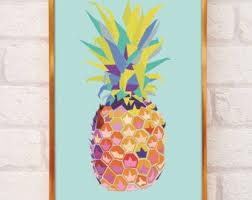 <b>Pineapple poster</b> | Etsy
