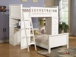 white bunk beds with desk bunk beds desk