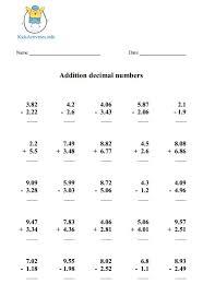 Multiplying Decimals Worksheet 6th Grade - KhayavDecimal Worksheets Fifth Grade Kids Activities