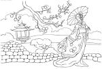 Китай раскраски