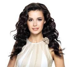 <b>Beautiful</b> brunette <b>woman</b> with <b>beauty long curly</b> hairstyle. Fashion..