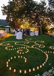 beautiful candle lighting wedding decorations outdoor wedding ideas photo by sylvie gil photography candle lighting ideas