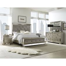 celine 5 piece mirrored and upholstered tufted queen size bedroom set bedroom furniture set