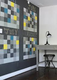 view in gallery chalkboard wall shapes a dynamic and fun calendar in the home office from sarah chalkboard paint office