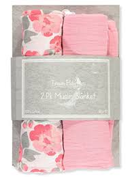 Forever Baby 2-Pack <b>Muslin Swaddle Blankets</b>