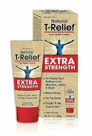 <b>T</b>-<b>Relief Pain Relief Cream</b> for Minor Joint, Back, Muscle, Nerve ...