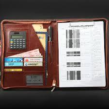 black red blue business <b>a4 document</b> bag PU <b>Leather folder</b>-in <b>File</b> ...