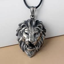 <b>CUTEECO</b> Hip Hop Lion Head Pendant Necklace For Men Women ...