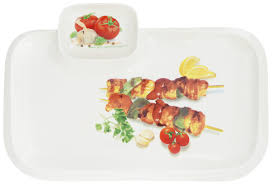"<b>Блюдо для шашлыка</b> Elan Gallery ""Шашлык"", с соусницей, 35 х 24 ..."