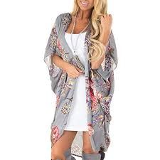 TITAP <b>S</b>-<b>2XL</b> Beach Wear Cover UP Tops <b>Women</b> Chiffon <b>Flower</b> ...