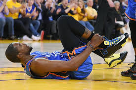 Image result for kevin durant injured foot