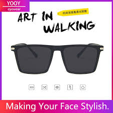 <b>Hot</b> Sell Fashion Retro <b>Square</b> Men Sunglasses Eyewear   Shopee ...