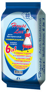 Купить <b>Салфетки влажные</b> House Lux <b>Антибактериальные</b> ...