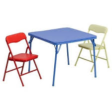 Shop Kids <b>3 Piece Folding</b> Table and Chair Set - Kids Activity Table ...