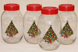 kitchen canisters farm girl pink christmas tree holiday kitchen canister set carlton glass gallon jar c