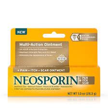 Neosporin <b>Pain</b>, <b>Itch</b>, <b>Scar</b> Antibiotic Ointment with Bacitracin, 1.0 oz ...