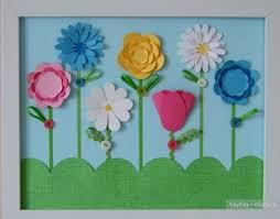 Украшение интерьера - <b>картины своими руками</b>, цветы из бумаги