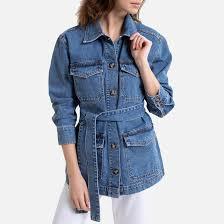 <b>Куртка</b> в стиле милитари из денима синий выбеленный <b>La</b> ...