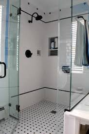 glass tiles bathroom guest shower remodel with ocean glass subway tile wall panel