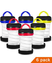 JEFAL 6 Pack <b>Portable Mini</b> Camping Lantern with <b>LED Flashlights</b> ...