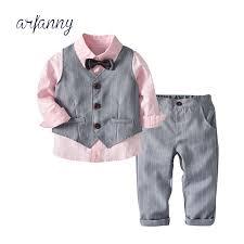 <b>Kids</b> Boys Clothes Sets <b>2019 Spring</b> Pink Shirt+Vest+Pants <b>Children</b> ...