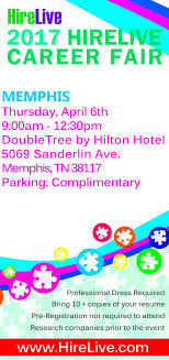 memphis s career fair at doubletree hotel upcoming events in prev