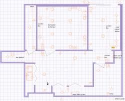 basement floorplan basement lighting layout