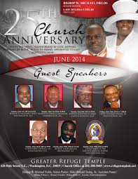 25th church anniversary celebration greater refuge temple of 25th church anniversary celebration greaterrefugetempleflyer