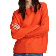 Orange Sweater <b>Women 2019</b> Autumn Winter <b>Round Neck</b> Thin ...