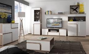 Milano 1 - white and oak modern console table | Modern <b>tv wall units</b> ...