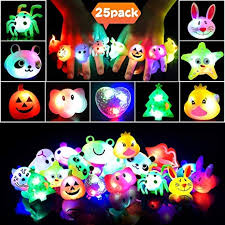 <b>LEEHUR Light</b> Up <b>Led</b> Birthday Party Favours Rings for Kids 25pcs ...