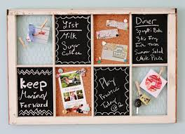 an old window can receive new life as a storage space for the office hang reminders and use the chalkboard for family reminders nice wall hanging office organizer 4