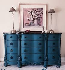 annie sloan custom color called peacock finished in 2 coats as dark wax glaze black painted bedroom furniture