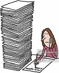 heavy workload cartoons and comics   funny pictures from cartoonstock bored woman writing immensely long essay