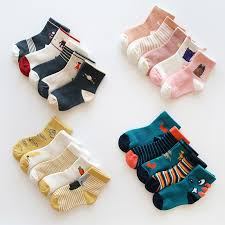 <b>5 pairs</b> Kids Cotton Socks <b>Autumn</b> Winter Cartoon Socks for Boys ...