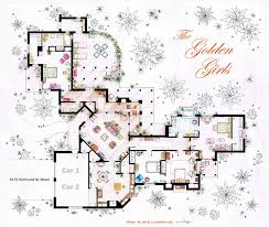 Artist Draws Detailed Floor Plans of Famous TV Shows   Bored PandaThe Golden Girls
