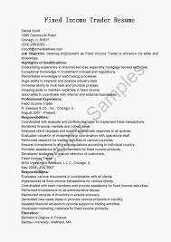 fixed income resume examples fixed income analyst resume sample equity trader cover letter